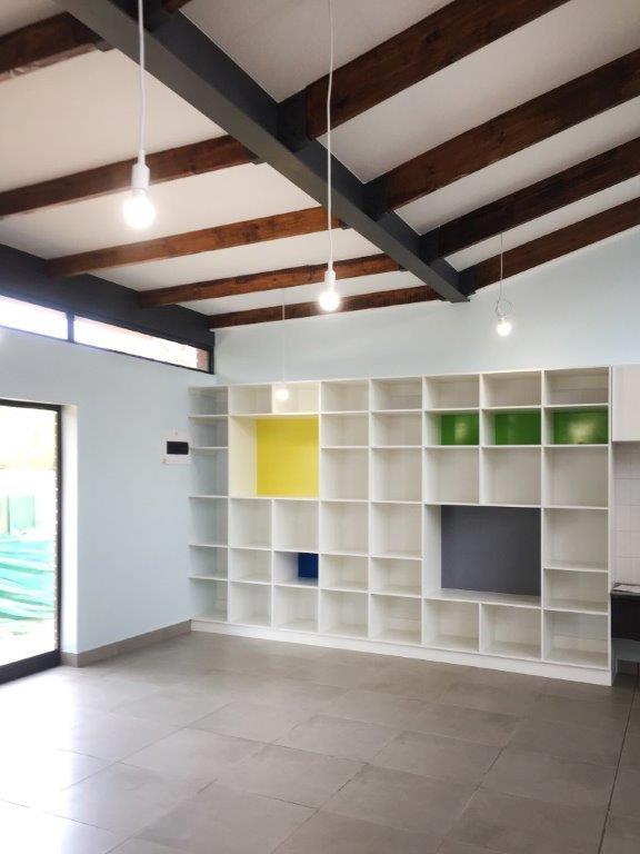 Classroom interior Storage space